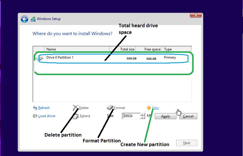 Windows installation