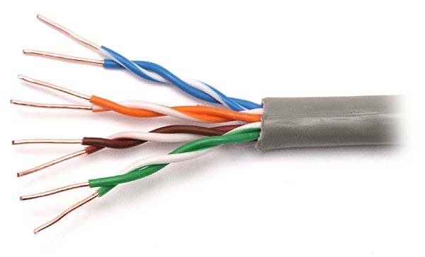 unshielded twisted pair in hindi